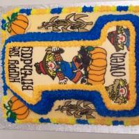 Scarecrow Birthday Cake