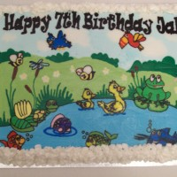 Pond Birthday Cake