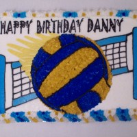 Volleyball Cake--3D