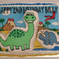 Cute Dinosaur Birthday Cake