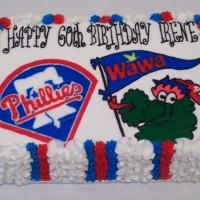 Phillies/WaWa Birthday Cake