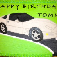 Happy Birthday Corvette Cake