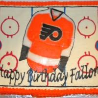 Flyers Hockey Rink Cake