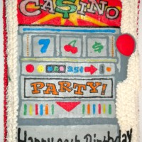 Happy Birthday Slot Machine Cake