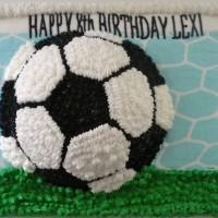 Soccer on Top Cake