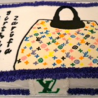 Happy Birthday LV Purse Cake