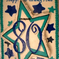 Happy 80th Birthday Star Cake