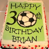 Happy Birthday Soccer Ball #2 Cake