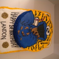 Cookie Monster 1st Birthday Cake