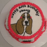 Bassett Hound Birthday Cake