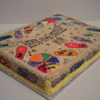 Flip Flop Cake...with all the names of the bday girls kids and grandkids!!!