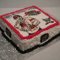 John Cena...WWE Wrestling cake