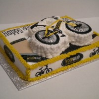 Dirt Bike Birthday Cake