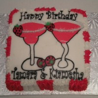 Strawberry Margarita Birthday Cake