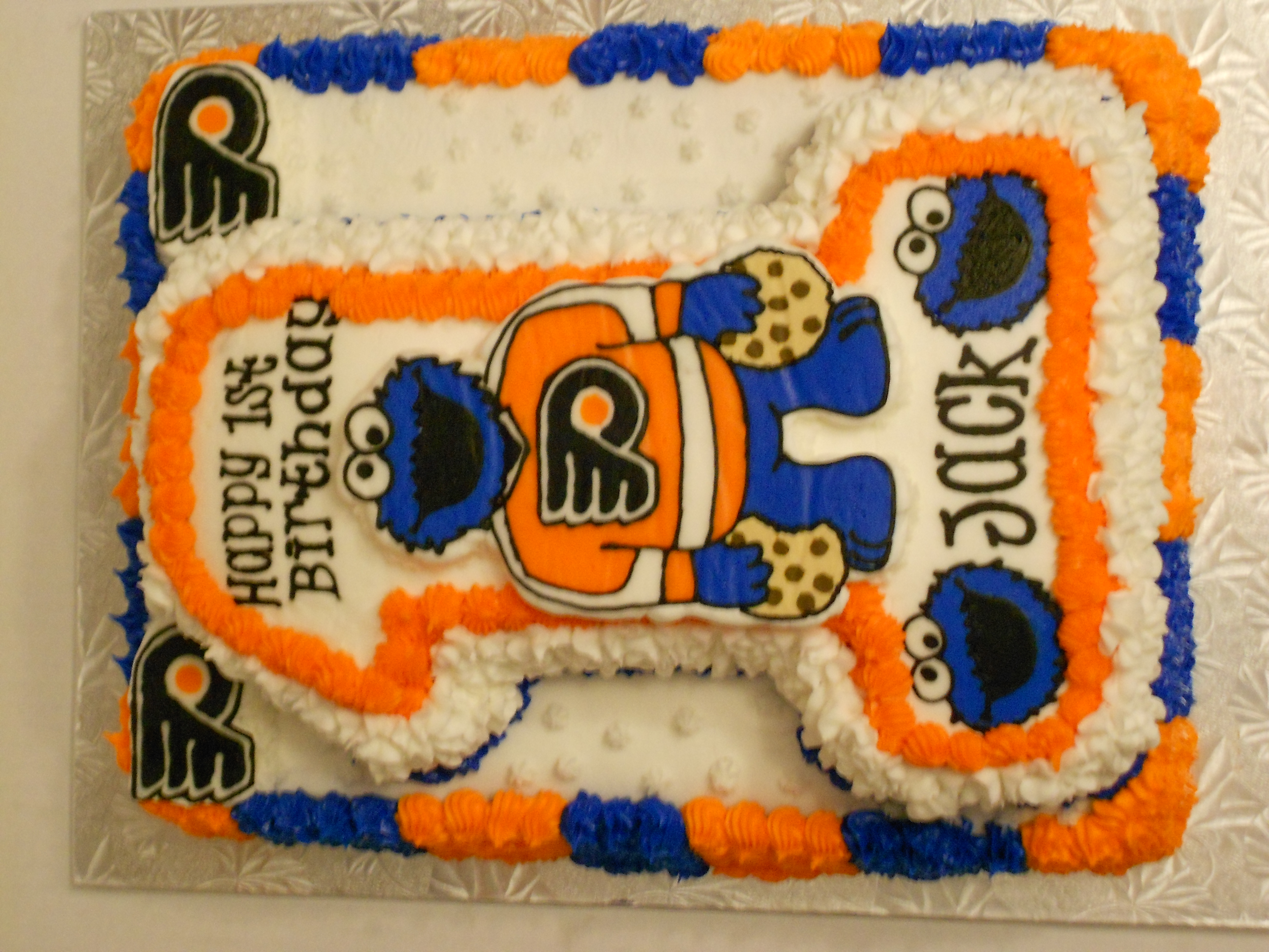 Cookie Monster in Flyers Jersey