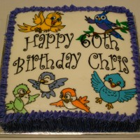 Bird Lover Birthday Cake