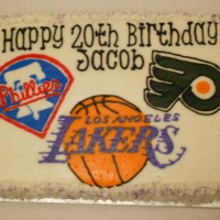 Flyers...Phillies...Lakers Cake