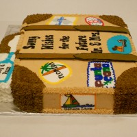 Wedding Shower --- suitcase cake