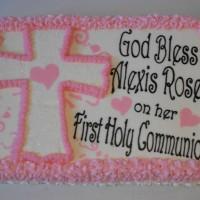Communion Cake....cross