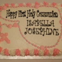 Rosary Bead Communion Cake