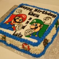 Mario Brothers...mario and Luigi