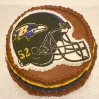 Football Helmet with chocolate Buttercream icing