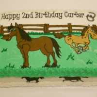 Horse Lover Birthday Cake