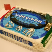Survivor Birthday cake
