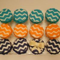 Zig zag cupcakes