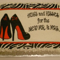 High Heel Wedding Shower Cake