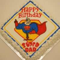 Super Dad bithday cake