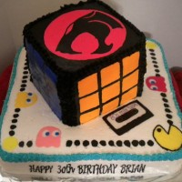 Happy Birthday 1980's Cake
