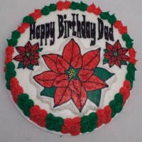 Christmas...poinsetta cake