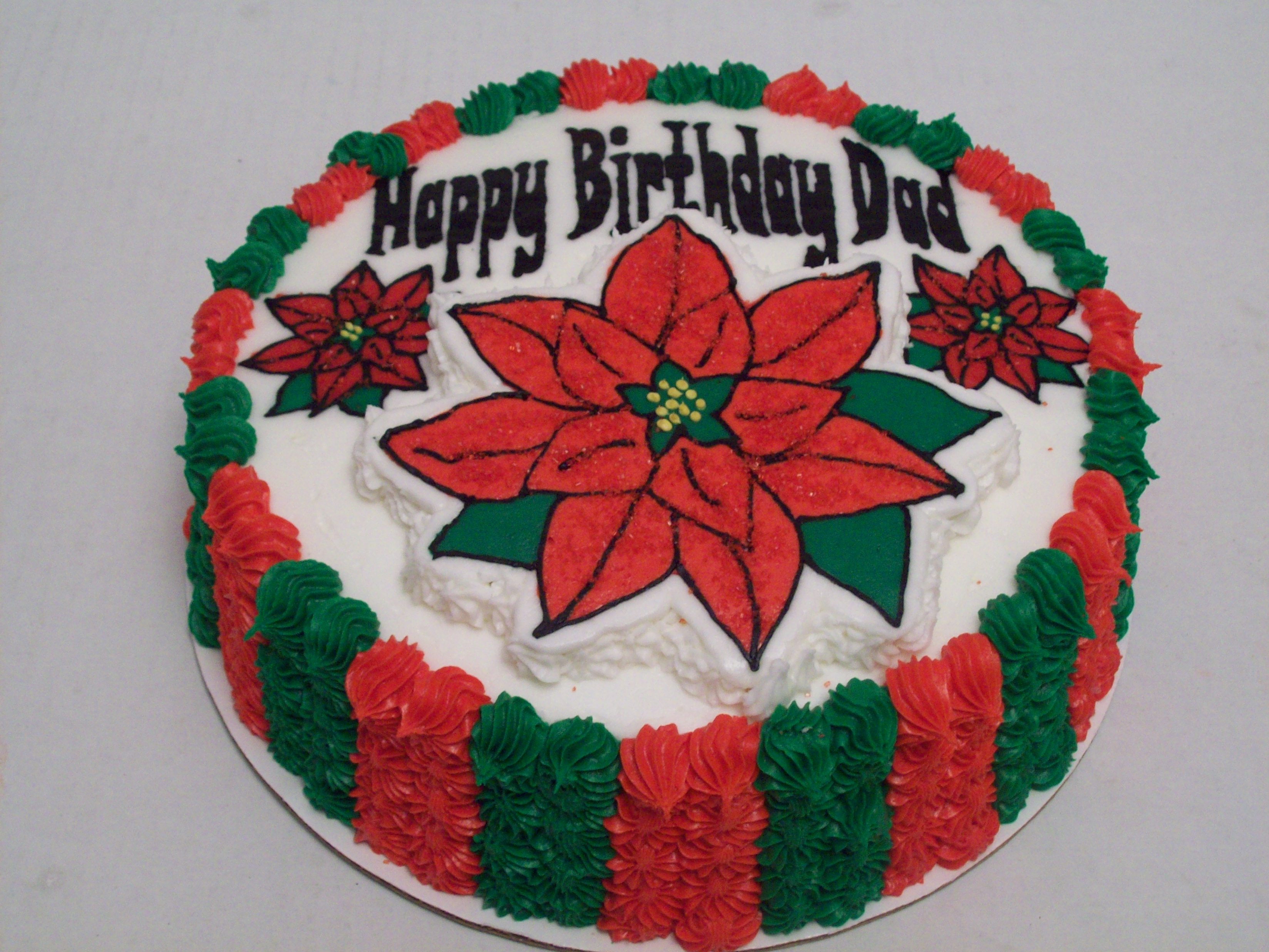 Make Poinsetta Out Of Cake