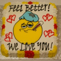 Sick Smiley Face...Feel Better Cake!!