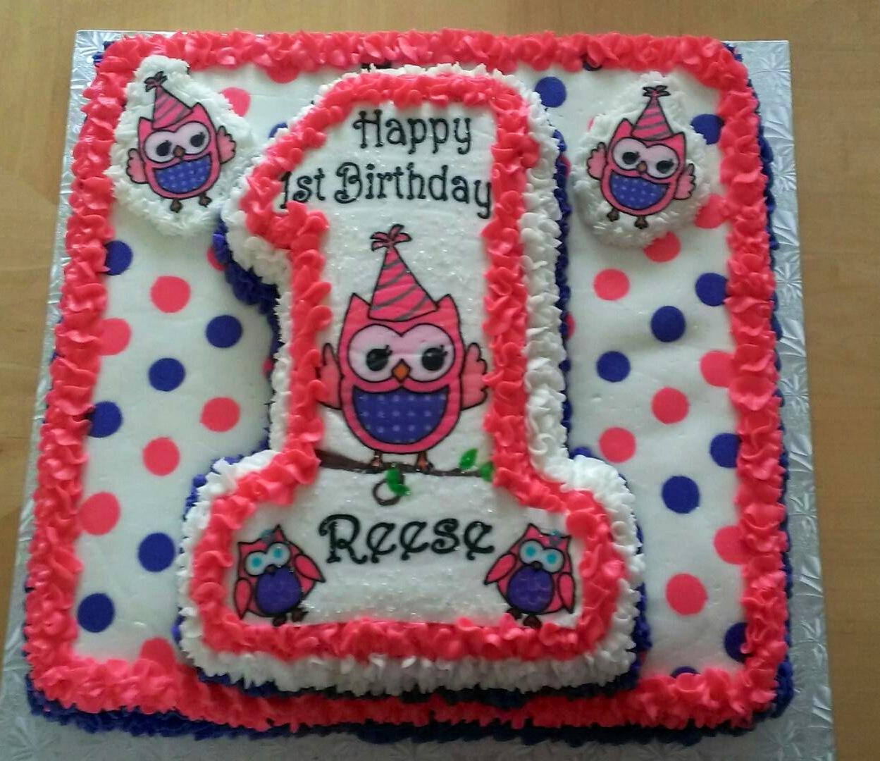 Owl 1st Birthday Cake erriberricakescom
