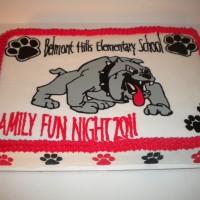 Belmont Bulldog Cake