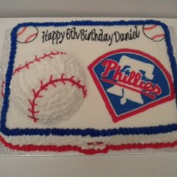 Phillies Logo with 3D baseball