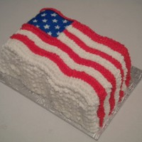 Flag Cake...red/white/blue layered inside!!