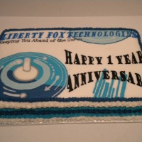 Business Card cake -- 1st yr. Anniversary of a new business!!