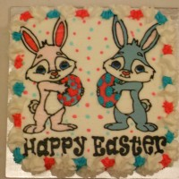 Easter Bunnies with Eggs