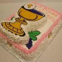 Communion chalice cake