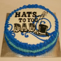 Father's Day Cake...Hats off to Dads!!