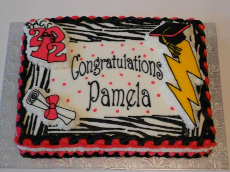 Zebra print graduation