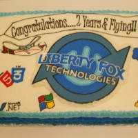 Liberty Fox Technology Anniversary Cake