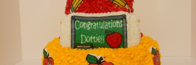Graduation teacher cake